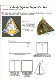 Free Pattern for Must-Try Teepee Bags----http://www.janicefergusonsews.com/blog/