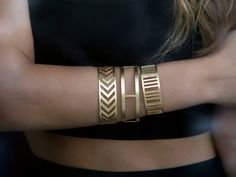 Herringbone BangleBraceletGeometry by yukabyguliz on Etsy, $70.00