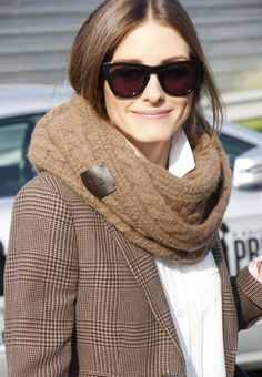 camel cable & plaid tweed