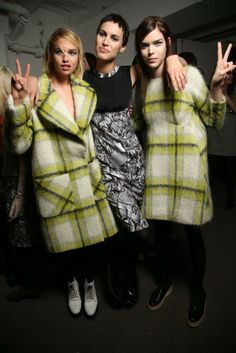 Backstage at Giles RTW Fall 2014 [Photo by Giovanni Giannoni]