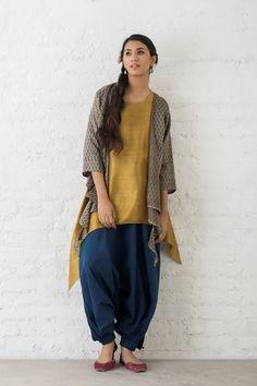 Goodearth - Romani:Ziva Knotted Cotton Silk Shrug