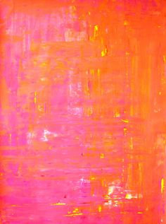Abstract Art Print Pink Orange Yellow and White  [[T30Gallery]]