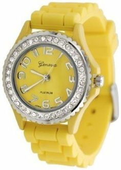 Geneva Platinum CZ Accented Silicone Watch, Small Face SilverBin. $8.06. Quartz Movement. 32mm Case Diameter. Mineral Crystal. 30 Meters / 100 Feet / 3 ATM Water Resistant. Save 84%!