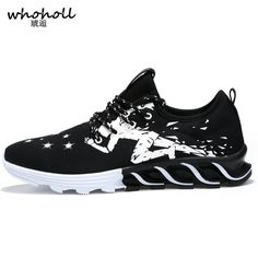 WHOHOLL 2017 summer men's shoes mesh breathable running shoes sports sneakers Athletic Sneakers Krasovki zapatillas #Affiliate