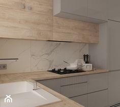 Kuchnia w domu jednorodzinnym - zdjęcie od MOTIF DESIGN Kitchen Room Design, Kitchen Cabinet Design, Modern Kitchen Design, Home Decor Kitchen, Interior Design Kitchen, Home Kitchens, Open Plan Kitchen Dining Living, Kitchen Seating, Small Modern Kitchens