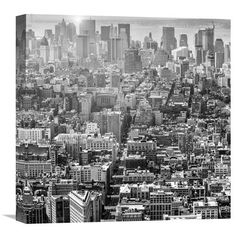 Aerial View Of Manhattan, Nyc By Walter Zerla, 18 X 18-Inch Wall Art