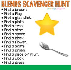 Blends Scavenger Hunt #blends #scavengerhunt #kindergarten #firstgrade