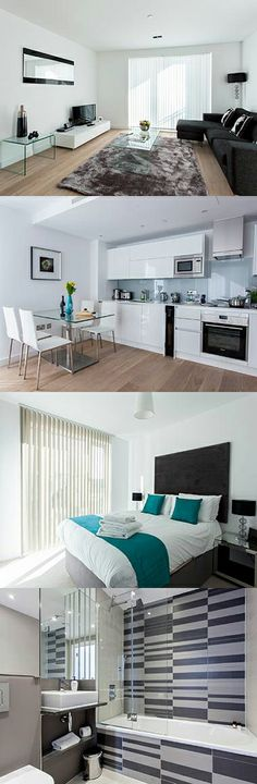 The modern one bedroom apartments contain fully equipped kitchens. All of the apartments have double beds and one main bathroom with baths and showers. Here are Avant Garde Apartments, Shoreditch, London