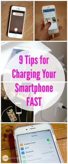 Simple tips for quickly charging your smartphone!