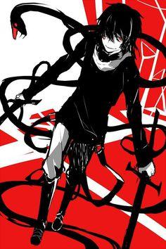 "Kokonose ""Konoha"" Haruka, The Snake of Clearing Eyes, Dark Konoha, Kuroha, Kagerou Project Vocaloid, Anime Snake, Mago Anime, Character Art, Character Design, Animes Yandere, Kagerou Project, Hot Anime Guys, Anime Boys"