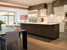 Cirrus Slate Grey Zebrano with Cirrus Oyster - modern - Kitchen - Toronto - AyA Kitchens and Baths