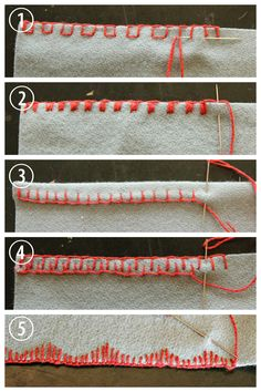 "truebluemeandyou: "" DIY 5 Blanket Stitch Variations and Tutorials from coletterie here. I post a lot of DIYs that use blanket stitch from clothing using fleece to embroidered felt. • Spaced Blanket..."