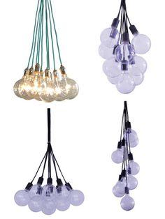 9 Pendant Cluster Industrial Chandelier Modern Globe Bubble – Hangout Lighting