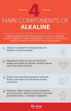 Alkaline benefits - Dr. Axe http://www.draxe.com #health #Holistic #natural
