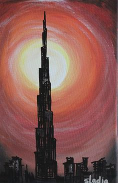 Burj khalifa dubai drawings and paintings by stephen for Burj khalifa sketch