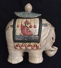 Vintage Elephant Cookie Jar