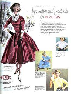 Dupont Nylon ad, July 1952. #vintage #1950s #fashion