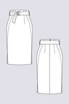 Pulmu – Bleistiftrock mit hohem Bund, Pulmu High-waisted Pencil Skirt Named Patt… – Skirt Ideen Satin Pencil Skirt, Pencil Skirt Casual, Pencil Skirt Outfits, High Waisted Pencil Skirt, Pencil Skirts, Pencil Dresses, Flat Drawings, Flat Sketches, Pencil Skirt Tutorial