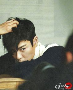 T.O.P - for some reason I can't take him seriously in this picture.