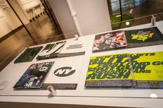 Michael Bierut SVA's Exhibition featuring New York Jets graphic identity
