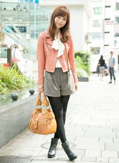 pink jacket - skirt rather than shorts though