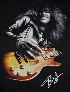 Guns N Roses Concert T-Shirt Slash size Adult Large band Guitar Music Tee Black #LiquidBlue #GraphicTee