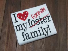 I love my forever family- gotcha day - Foster family - Love Makes A Family Embroidered Shirt. Adoption shirt. Grown in my heart. by NoOdLeSBoutique on Etsy