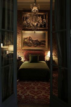 Pierre Bergé's bedroom. rue Bonaparte. From Prussian Blue