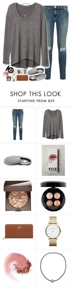 """""""4 day weekends"""" by sdyerrtx ❤ liked on Polyvore featuring Gap, Vans, Kylie Cosmetics, Laura Mercier, MAC Cosmetics, Coach, Marc by Marc Jacobs, NARS Cosmetics and Majorica"""