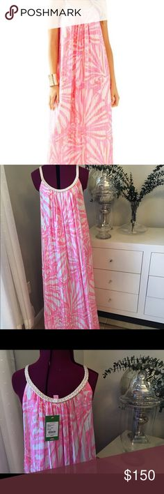 Lilly Pulitzer Sienna Maxi Pink Pout Shimmy Shimmy New with tag Lilly Pulitzer Maxi. Size Small Lilly Pulitzer Dresses Maxi