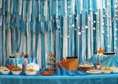 Ocean party - paper garland bubbles