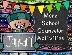 """More School Counselor Activities for January: Self-Discipline"" booklet, ""Anger Management"" activities, ""Homework Success"" posters and activities, and ""Hospitality and Tourism"" career cluster activities."