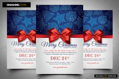 Merry Christmas Flyer Template @creativework247