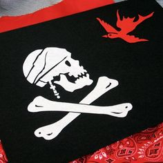 Pirate Party Jolly Roger Flag - instructions & template