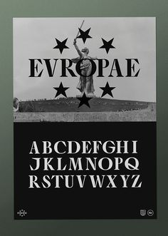 EVROPA poster 1 / 3.Typography & graphic by Studio Jimbo. 2014.
