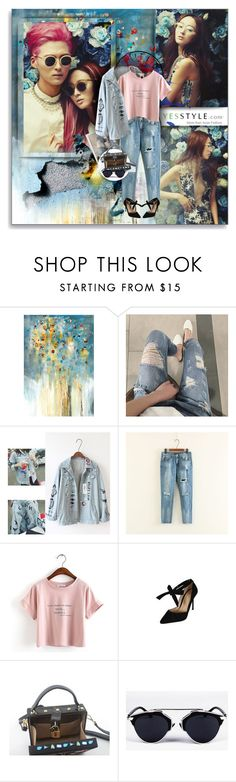 """YesStyle- BoyfriendStyle"" by shinee-pearly ❤ liked on Polyvore featuring Leftbank Art, ESPRIT, Trendedge, DaBaGirl, Una-Home, MBLife.com, jeans, boyfriend, shirt and yesstyle"