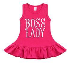 Boss Lady Hot Pink Sleeveless Dress by My Baby Rocks - Baby and toddler clothes and gifts