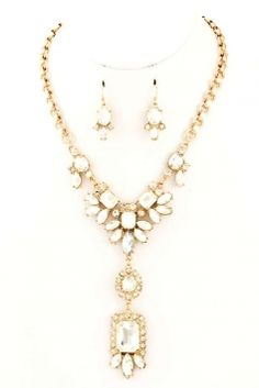 Retro Style Rhinestone Set Jewelry $25