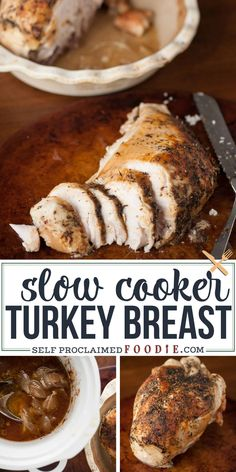 Slow Cooker Turkey Breast is perfect as Thanksgiving dinner for two or serves as an easy meal prep idea. Crock pot turkey breast is easy and delicious! If - thanksgiving quo - Slow Cooker Turkey Breast Recipe and VIDEO Thanksgiving Dinner For Two, Thanksgiving Recipes, Dinner For 2, Thanksgiving Turkey, Christmas Dinner For Two, Easy Meal Prep, Easy Meals, Meal Preparation, Easy Recipes