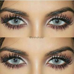 """LID: """"high"""" from the naked smokey palette LINER… Makeup Goals, Love Makeup, Makeup Inspo, Huda Beauty, Beauty Makeup, Colored Eye Contacts, Bigger Eyes, Eye Color, Makeup Yourself"""