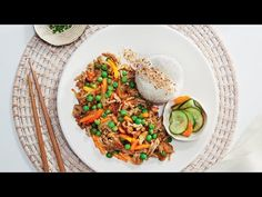 Friday - Teriyaki Pork Stir Fry with Pickled Cucumber and Carrot Pork Stir Fry, Pickling Cucumbers, Carrot Recipes, Budget Meals, Japchae, Carrots, Fries, Dining, Cooking