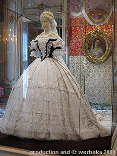 replica of Empress Elisabeth's Hungarian coronation gown by Charles Frederick Worth
