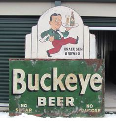 Vintage Buckeye Beer Sign