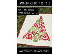 Quilt-Muster verwirbelt Weihnachtsbaum von FrivolousNecessity