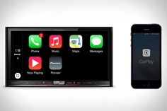 Pioneer NEX CarPlay Receivers - Made to work in the car you already own, you get the full use of Siri, navigation, your music, phone, messages, all within an easy-to-use touchscreen panel in your car's dash. With a number of receivers available, all you need to do is plug your iPhone into the unit and enjoy.  | Uncrate