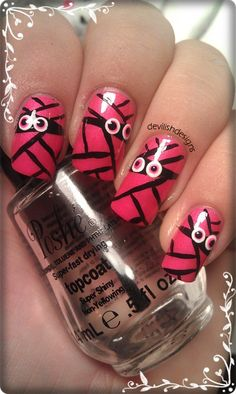 Girly Mummy halloween #nail #nails #nailart