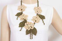 Declaración collar joyas de ganchillo bip collar de por SenasShop