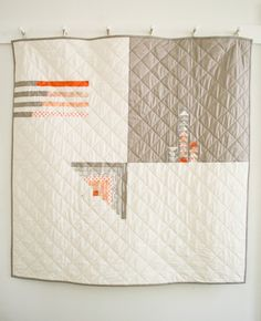 How-To: Simple Four Square Quilt #quilting #sewing