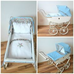 landau-poupée-vintage-Liberty Collage Prams And Pushchairs, Dolls Prams, Miniatures, Collage, Furniture, Illustration, Home Decor, Souvenir, Upcycling