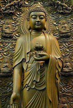 Amitabha Buddha, Gautama Buddha, Buddha Buddhism, Buddhist Symbols, Buddhist Art, Buddhist Symbol Tattoos, Hindu Tattoos, Buddha Tattoos, Mahayana Buddhism